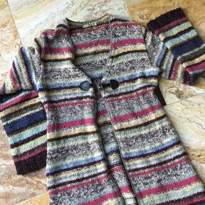 Relais Knitware Sweaters - Relais full multicolor sweater coat/front closure